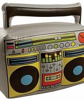 Feest thema muziek decoratie radio opblaasbaar 44 cm