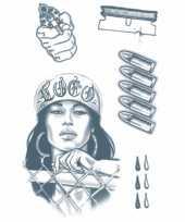 Feest tijdelijke tatoeages crimineel