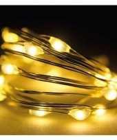 Feest timer draadverlichting zilverdraad 60 warm witte lampjes 295 cm