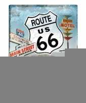 Feest tinnen wandplaat route 66 amerikaans