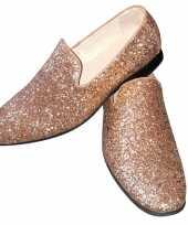 Feest toppers gouden glitter disco instap schoenen voor heren