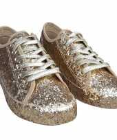Feest toppers gouden glitter disco sneakers schoenen voor dames