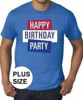 Feest toppers grote maten toppers happy birthday party heren t-shirt officieel 10137573