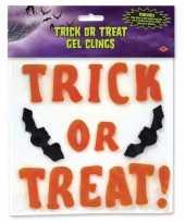 Feest trick or treat vleermuis raamsticker