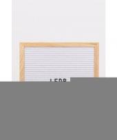 Feest trouwerij letterbord wit 30 cm