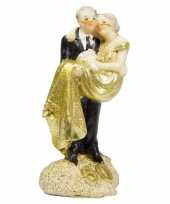 Feest trouwfiguurtje goud 50 jaar
