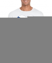 Feest tsjechie hart vlag t-shirt wit heren