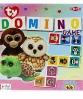 Feest ty beanie speelgoed domino spel