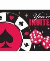 Feest uitnodigingskaart poker spel