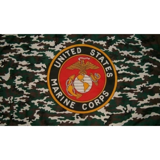 Feest us marine corps vlag with camouflage