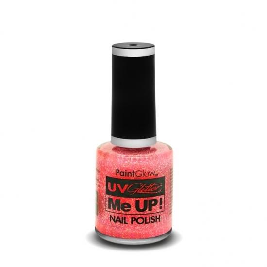 Feest uv glitter nagellak neon roze