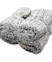 Feest vacht plaid deken knut antraciet grijs 150 x 200 cm