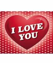 Feest valentijn romantische valentijnskaart i love you ansichtkaart met hartjes