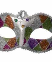 Feest venetiaanse oogmaskers glitter