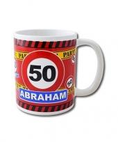 Feest verjaardag 50 jaar abraham mok beker 250 ml