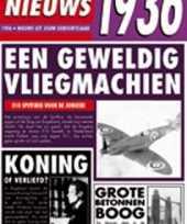 Feest verjaardag kaart met nieuws uit 1936