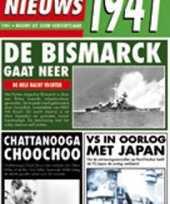 Feest verjaardag kaart met nieuws uit 1941