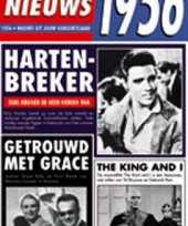 Feest verjaardag kaart met nieuws uit 1956
