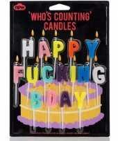 Feest verjaardagskaarsjes happy fucking bday