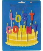 Feest verjaardagskaarsjes lost count