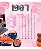 Feest verjaardagskaart 30 jaar met muziek uit 1988
