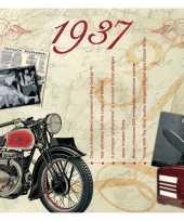 Feest verjaardagskaart 80 jaar met muziek uit 1938