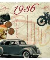Feest verjaardagskaart met muziekhits uit 1936