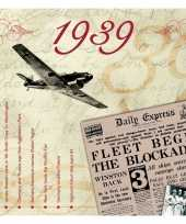 Feest verjaardagskaart met muziekhits uit 1939