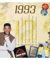 Feest verjaardagskaart met muziekhits uit 1993