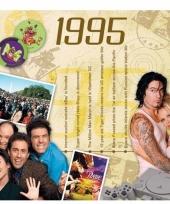 Feest verjaardagskaart met muziekhits uit 1995
