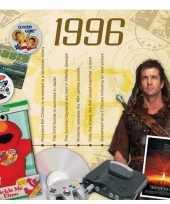 Feest verjaardagskaart met muziekhits uit 1996