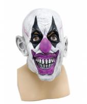 Feest verkleed enge clown masker voor volwassenen
