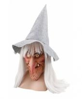 Feest verkleed gezichtsmasker heks