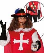 Feest verkleedkleding musketier accessoire volwassenen 10064667