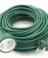 Feest verlengsnoer kabel groen 20 meter binnen buiten