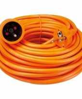 Feest verlengsnoer penaarde oranje van 20 meter
