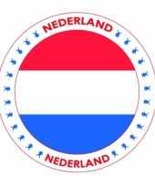 Feest viltjes met nederland vlag opdruk