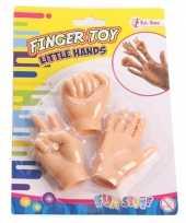 Feest vingerhandjes huidskleur 3 stuks