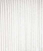 Feest vliegengordijn deurgordijn grijs transparant 93 x 220 cm