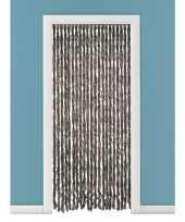 Feest vliegengordijn deurgordijn kattenstaart bruin 93 x 230 cm