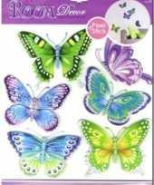 Feest vlinder decoratie stickers