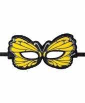 Feest vlinder oogmasker geel