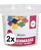 Feest voegmiddel voor mozaiek steentjes 1000 gr