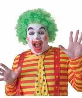 Feest voordelige groene clownspruik voor volwassenen
