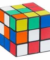 Feest voordelige kubus puzzel 7 cm 10105598