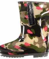 Feest voordelige meiden regenlaarzen camouflage