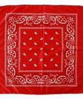 Feest voordelige rode boeren zakdoek 53 x 53 cm
