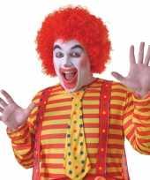 Feest voordelige rode clowns pruik voor volwassenen