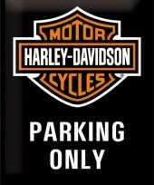 Feest wanddecoratie bikers parking only
