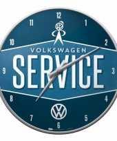 Feest wandklok volkswagen service 31 cm
